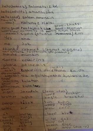 Our 77 Kazakh word vocab list